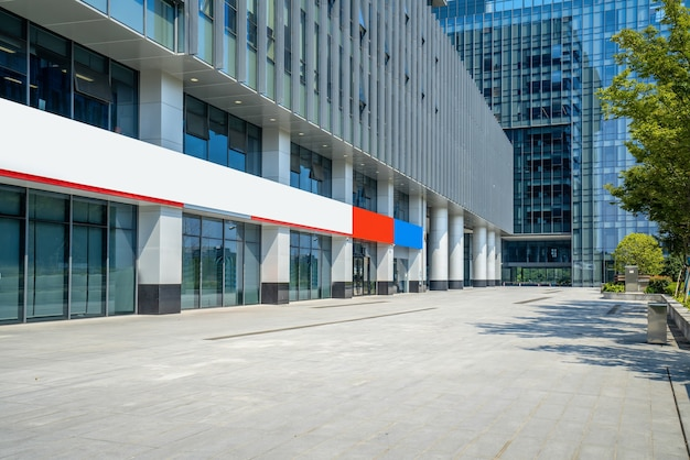 Financial center plaza e arquitetura, nanjing, china