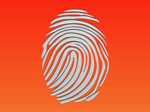 Finger print identidade evidência vector
