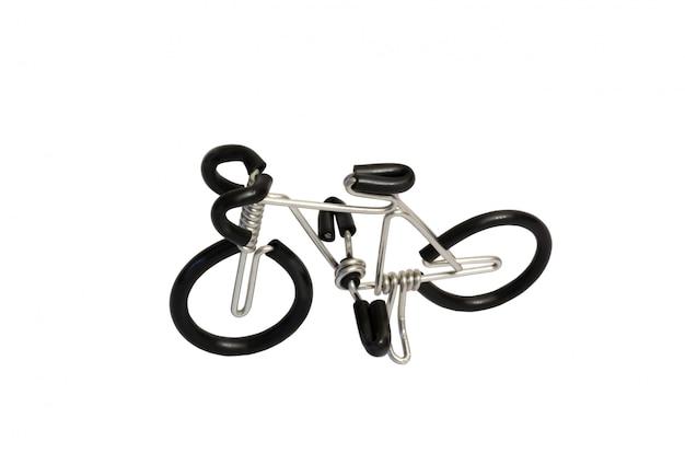 Fio de brinquedo modelo de bicicleta isolado