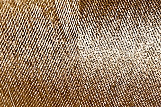 Fio dourado brilhante com textura