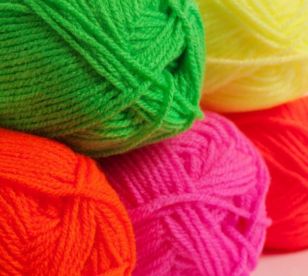Fios de lã close-up