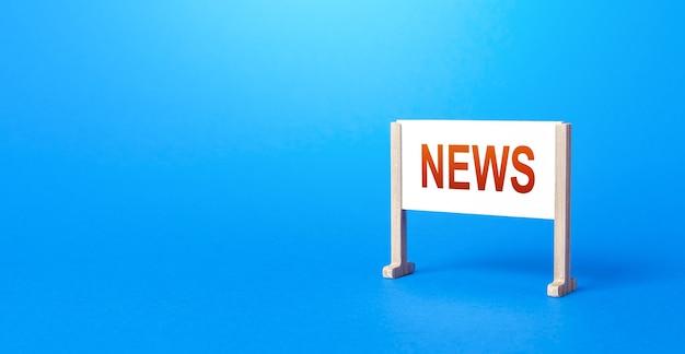 Fique pôster com as notícias de inscrição. eventos e incidentes importantes