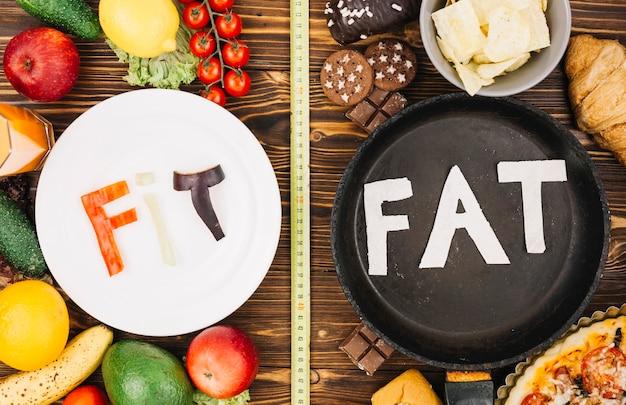 Fit vs gordura