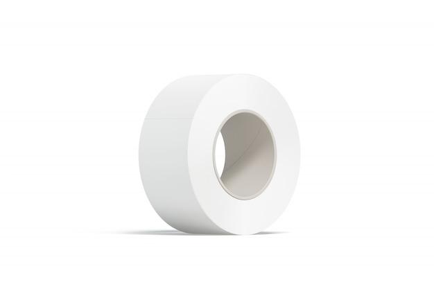 Fita adesiva branca em branco, isolada