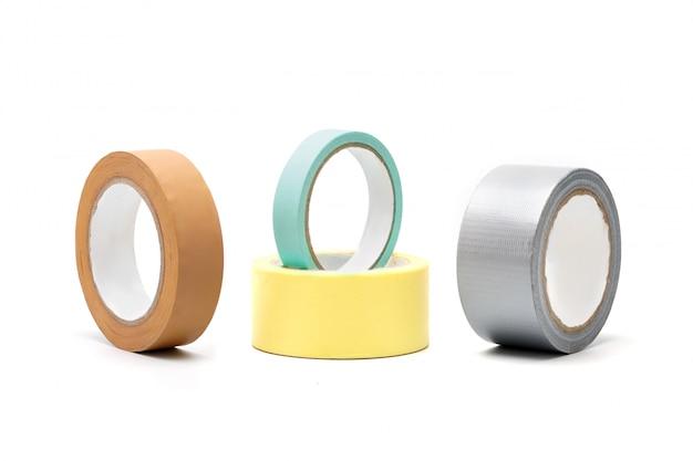 Fita adesiva colorida, fita isola, colas, acessório para reparo em casa e na ferramenta de reparo de construção de trabalho.