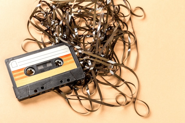 Fita cassete de áudio