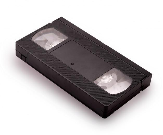 Fita cassete de vídeo vhs em branco