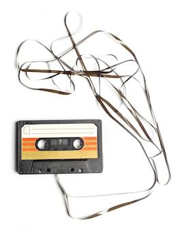 Fita cassete vintage isolado fundo branco
