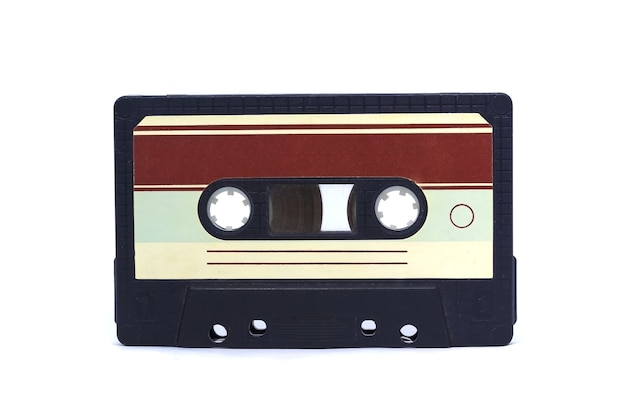 Fita cassete vintage velha isolada