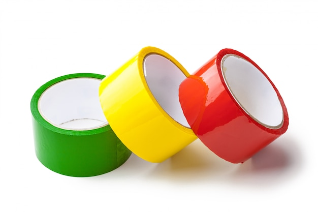 Fita colorida em rolos grandes