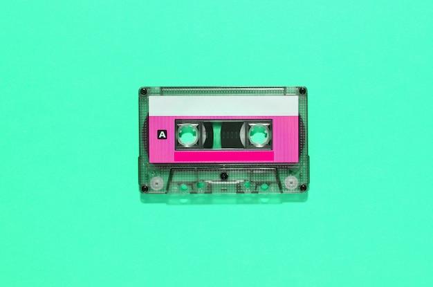 Fita de áudio vintage em cassete de plástico