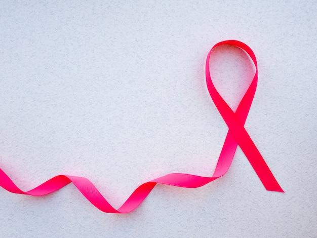 Fita de conscientização de câncer de mama cetim rosa