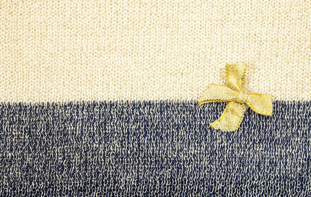 Fita de ouro em dois tons de tecido textura de fundo