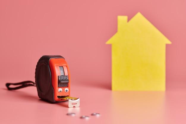 Fita métrica de metal para reforma de casas