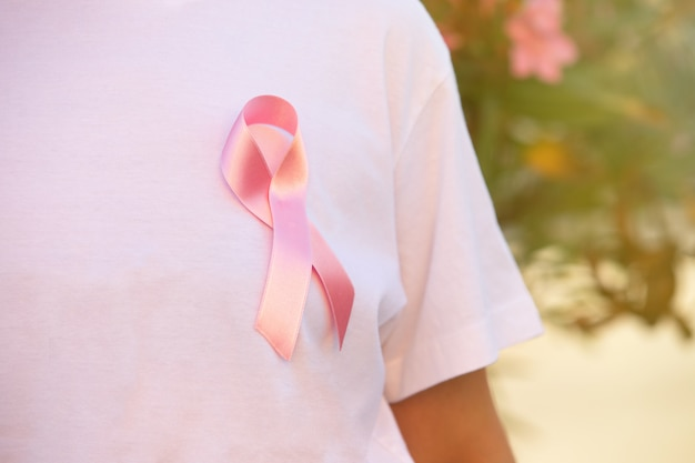 Fita rosa simbol câncer ilness