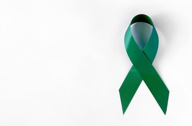 Fita simbólica de conscientização sobre o câncer verde