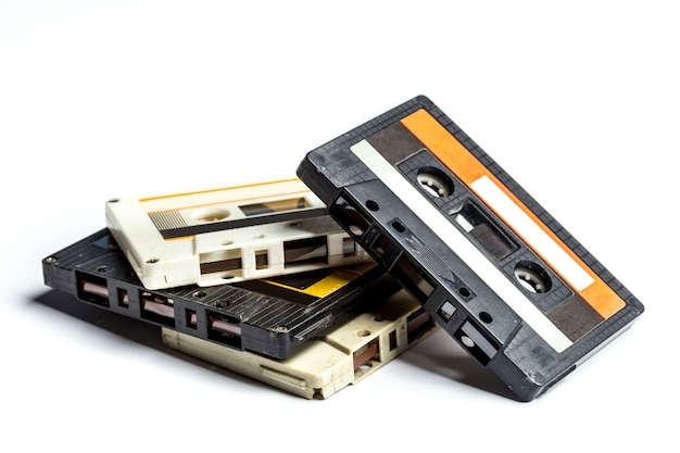 Fitas cassete vintage