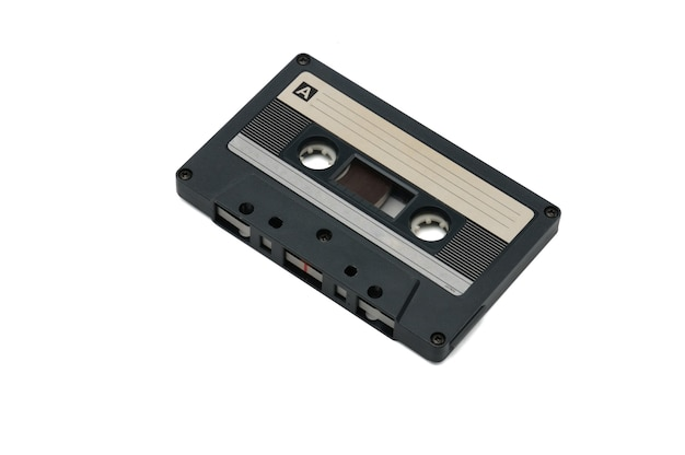 Fitas de áudio compactas vintage para gravação magnética isoladas. cassete compacta