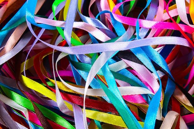 Fitas multicoloridas para costura e bordado de tecido