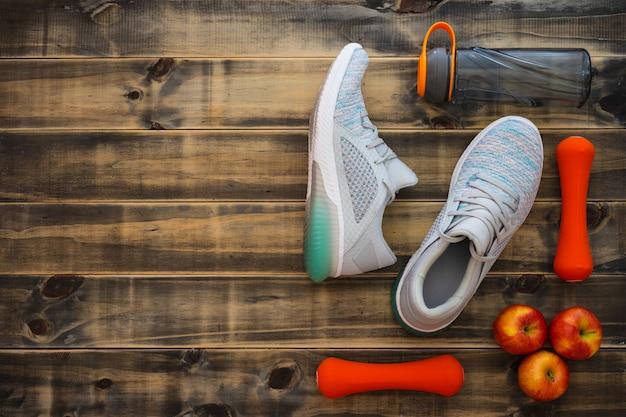 Fitness, conceito de estilos de vida saudáveis e ativos.