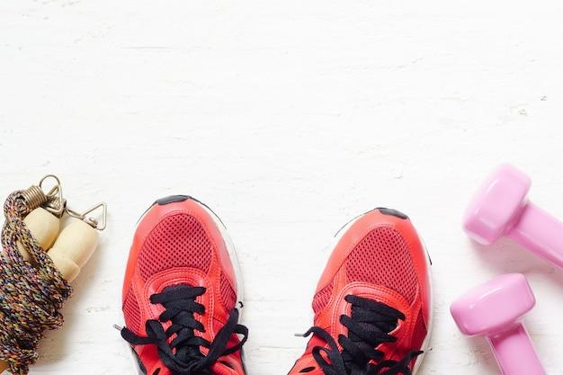 Fitness, estilo de vida saudável e ativo amam o conceito