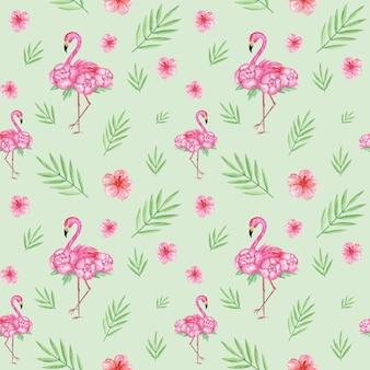 Flamingo sem costura padrão, fundo tropical, papel digital, design de padrão têxtil exótico