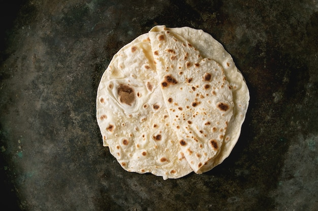 Flapjack caseiro de pão sírio