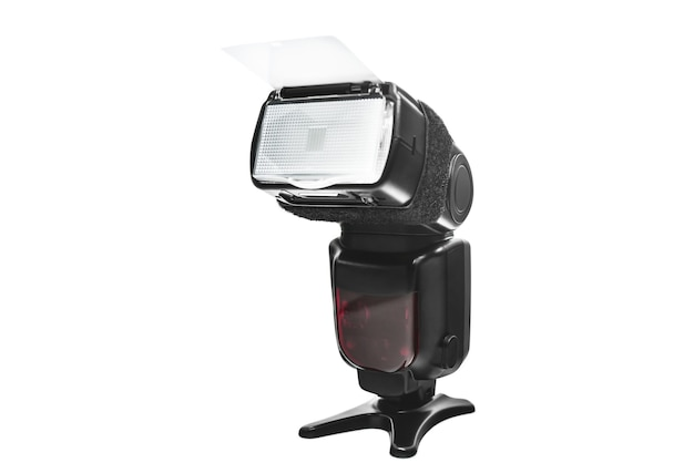 Flash de câmera digital isolado como conceito de forografia