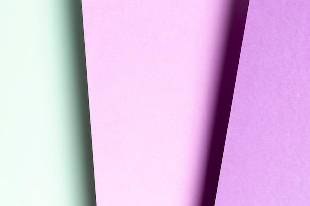 Flat lay azul e roxo padrão