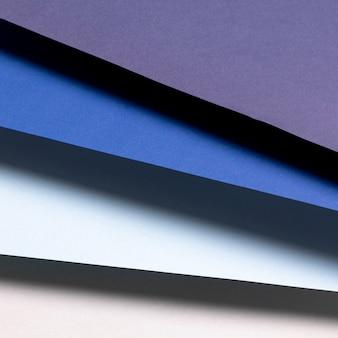 Flat lay blue shades pattern