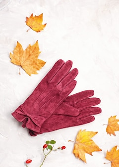 Flat lay com conforto roupa quente para o tempo frio.