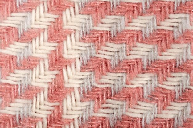 Flat lay de padrão de lã colorida