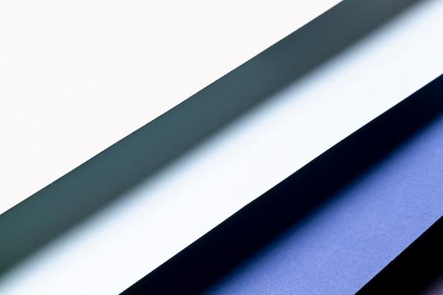 Flat lay gradiente azul padrão