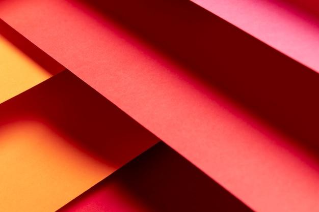 Flat lay gradiente padrão de cores quentes