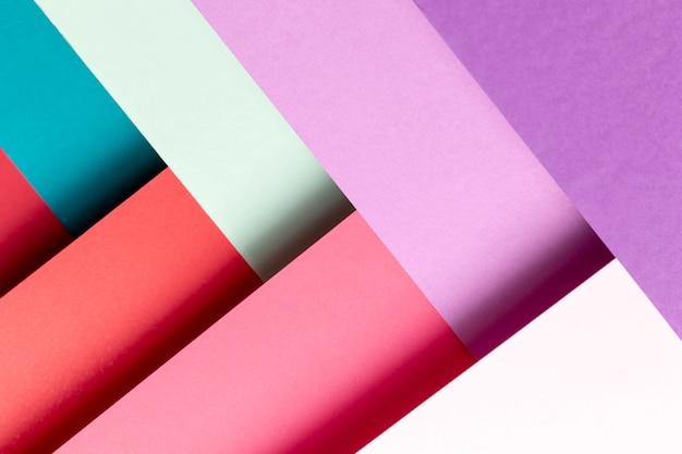 Flat lay padrão com cores diferentes