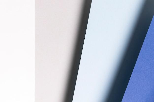 Flat lay padrão com diferentes tons de azul close-up
