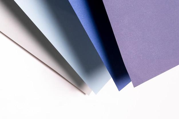 Flat lay padrão com diferentes tons de azul