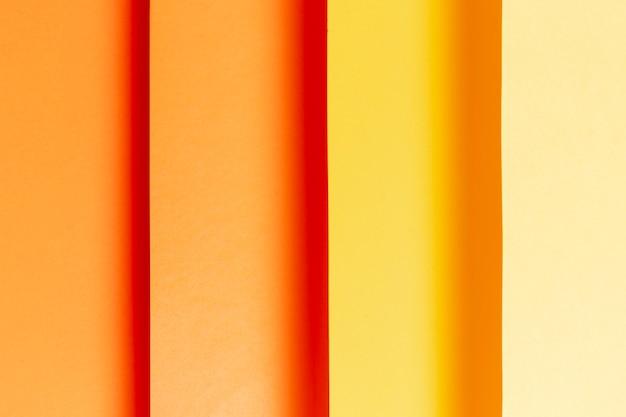Flat lay padrão com tons de laranja