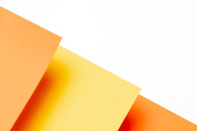 Flat lay padrão de tons de laranja com espaço de cópia