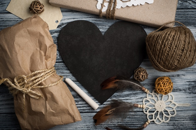 Flat leigos de presentes de natal ou presentes
