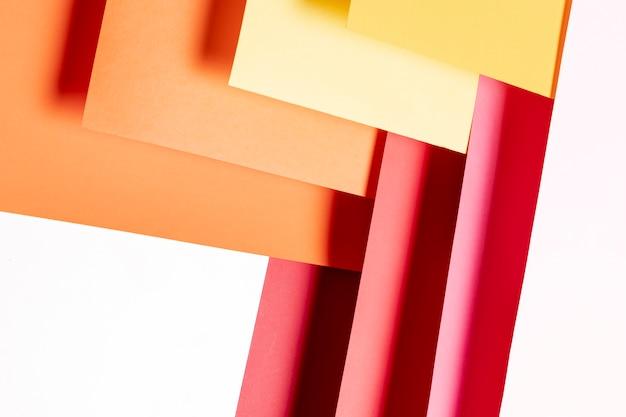 Flat leigos padrão de cores quentes