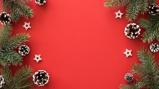 Flay lay de belo conceito de véspera de natal