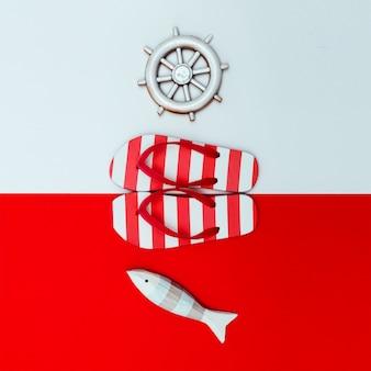 Flipflops sea style minimal design