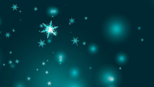 Floco de neve seis estrelas doze ramos curto espinho asa caindo partículas de gelo