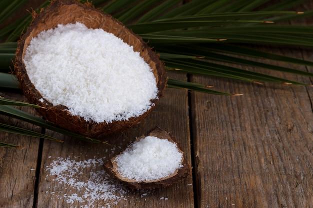 Flocos de coco