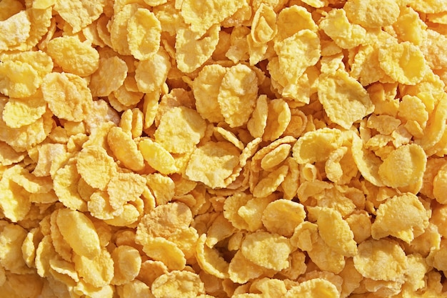 Flocos de milho de mel no saboroso café da manhã