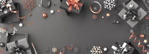 Flocos de neve de caixa de presente para venda de sexta-feira negra ou decoração de inverno