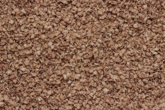 Flocos de trigo sarraceno, textura de fundo