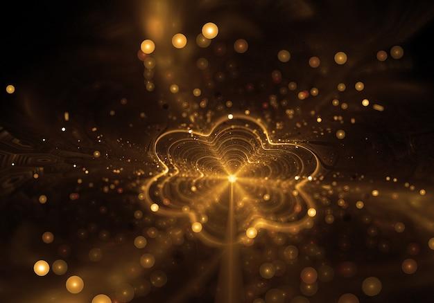 Flor brilho de ouro