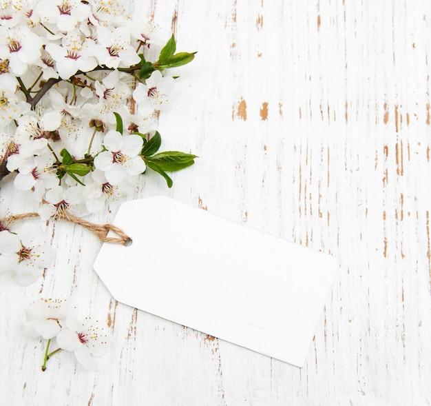 Flor com cartão